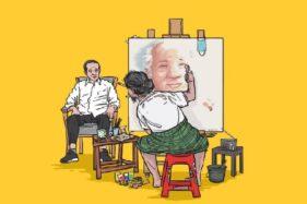Viral Lukisan Wajah Jokowi Mirip Pak Harto, Pelukisnya Ternyata dari Salatiga Hlo
