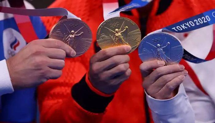 Medali emas, perak, dan perunggu Olimpiade Tokyo 2020. (Reuters)
