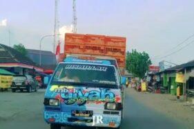 Video Viral Mobil Pikap Jalan Zigzag di Sumberlawang Sragen, Polisi Turun Tangan