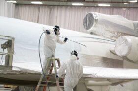 Mengecat Pesawat Terbang Tak Semudah Mengecat Gapura Buat Tujuhbelasan