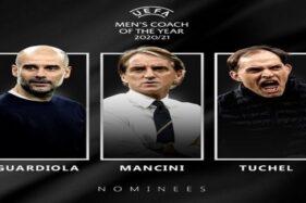 Pelatih Terbaik Eropa 2021: Pilih Guardiola, Tuchel, atau Mancini?