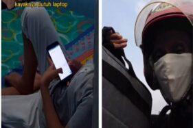 Viral Perjuangan Driver Ojol Belikan Laptop untuk Putrinya, Kisahnya Bikin Mewek