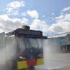 1 Peleton Polisi Dikerahkan Semprot Disinfektan di Jalanan Klaten