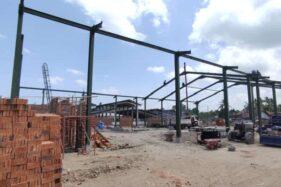 Pembangunan Pasar Turi Bantul Capai 28 Persen
