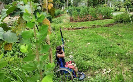 Bakal Tampil di Peparnas Papua, Atlet Panahan Wonogiri Ternyata Berlatih di Tegalan