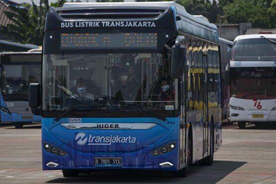 Begini Penampakan Bus Listrik Higer yang Mulai Diuji Coba di Jakarta