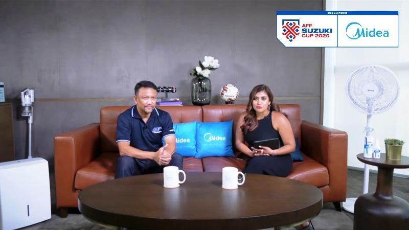 Fandi Ahmad, legenda sepak bola Singapura, dalam acara sebelum undian AFF Suzuki Cup 2020. (Istimewa)