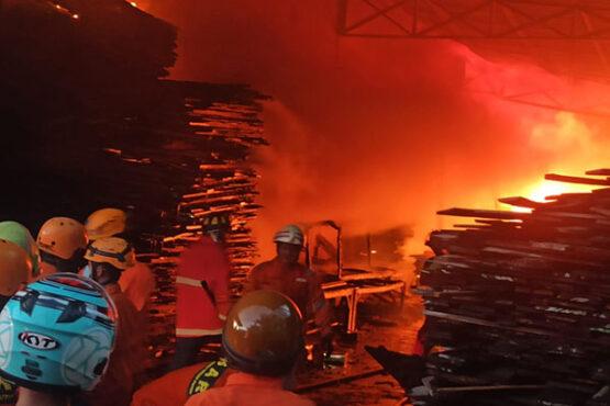 Ini Foto-Foto Dahsyatnya Kebakaran di Gudang Kayu Mojosongo Solo
