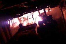 Pasar Janglot Sragen Terbakar, Kerugian Ditaksir RP4,1 Miliar