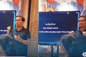 Unik! Pria Ini Presentasi Bak Seminar Saat Lamar Kekasih