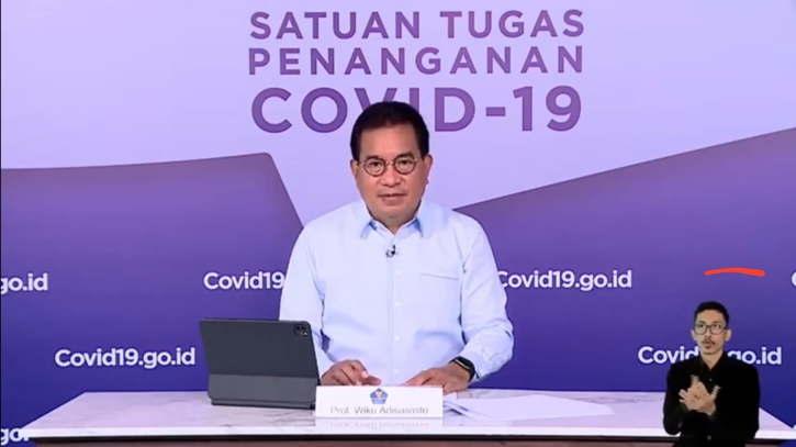 Juru Bicara dan Ketua Tim Pakar Satuan Tugas (Satgas) Penanganan COVID-19 Prof. Wiku Adisasmito. (Istimewa)