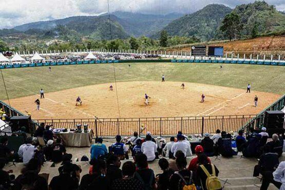 Pertandingan PON XX Papua: Tim Softball Putra Lampung Tundukkan Sulawesi Tenggara