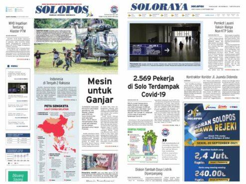 Solopos Hari Ini: Mesin Untuk Ganjar, 2.569 Pekerja di Solo Terdampak Covid-19