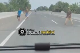 Viral: Serem! Aksi Gerombolan Palak Pengguna Tol Belawan Sumatra