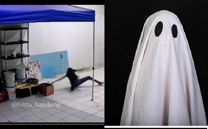 Seorang perempuan terseret kedapur diduga diganggu hantu. (Instagram/ @fakta.indo)