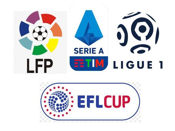 Hasil Piala Liga Inggris, Liga Spanyol, Liga Italia, dan Liga Prancis.
