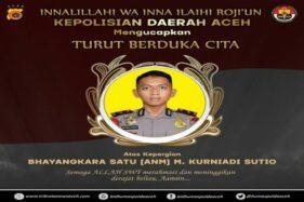 Bharada Kurniadi Korban KKB Dimakamkan di Aceh