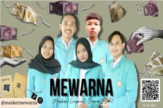 Mahasiswa FP UNS Bikin MEWARNA, Masker Kain Ecoprint Warna Alam