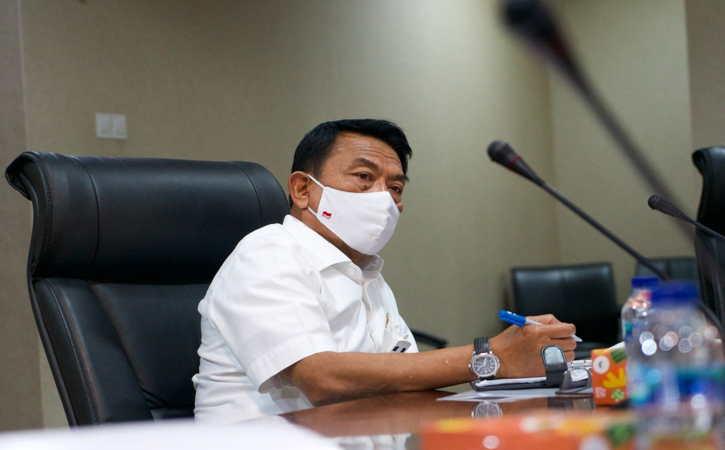 Kepala Staf Kepresidenan (KSP) Dr. Moeldoko berdialog dengan jajaran Komisi Aparatur Sipil Negara (KASN) di Gedung Bina Graha, Jakarta, Selasa (21/9/2021). (Istimewa)
