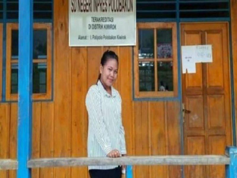 Nakes bernama Gabriela Meilan, 22,,menjadi korban penyerangan KKB di Papua. Jenazahnya masih berada di dasar jurang di Kiwirok, Kabupaten Pegunungan Bintang,Papua, Kamis (16/9/2021) malam. (Istimewa)