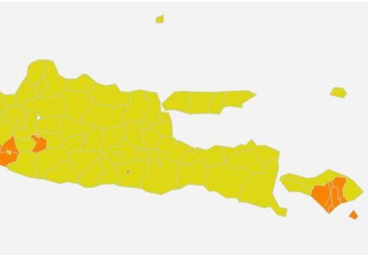 Covid-19 Jatim Terus Membaik, Tingga Satu Zona Oranye, Lainnya Kuning