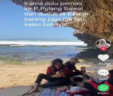 Viral Niat Piknik Asyik di Pinggir Pantai, Malah Berakhir Panik