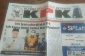Ini Peringatan KPK Untuk Koran Berlogo Mirip Lembaganya
