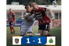 Dramatis! Bali United Ditahan Imbang Persikabo 1-1
