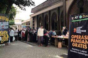 Operasi Pangan Murah dan Gratis Digelar di Masjid Al Falah Sragen