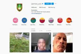 Waduh! Ada The Rock di Instagram Pemkot Solo, Dihack?