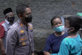 Kapolres Klaten Bantu Bocah Asal Sidowayah yang Kehilangan Penglihatan