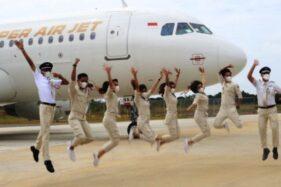 Penerbangan Milenial Super Air Jet Sasar Rute Surabaya