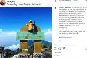 3 Pemanjat Tugu Triangulasi Terungkap, Dilarang Setahun Naik Merbabu