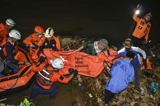 Polisi Olah TKP Tenggelamnya Siswa saat Kegiatan Susur Sungai di Ciamis