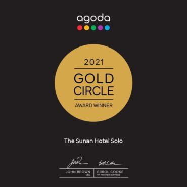 The Sunan Hotel Solo Sabet Gold Circle Award 2021 dari Agoda.com