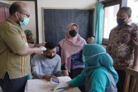 Pelajar SLB di Cawas Klaten Antusias Ikut Vaksinasi Covid-19