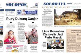 Solopos Hari Ini: Rudy Dukung Ganjar, Genderang Perang untuk Pinjol