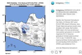 Salatiga & Ambarawa Diguncang Gempa, Netizen: Setiap 15 Menit Gempa