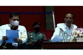 Airlangga Hartarto Nobar Wushu PON Papua Sama Jokowi