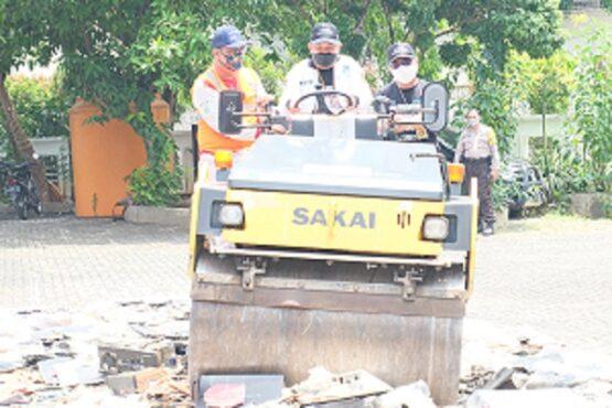 Balmon SFR Semarang Musnahkan Ratusan Perangkat Telekomunikasi Ilegal